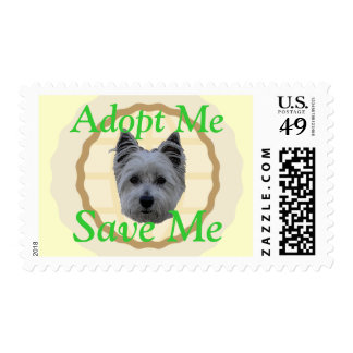 Adopt Me, Save Me (Westie mix) Postage
