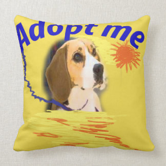 Adopt me throw pillow