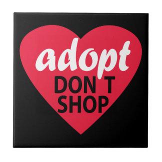 Adopt no hace compras azulejo cuadrado pequeño