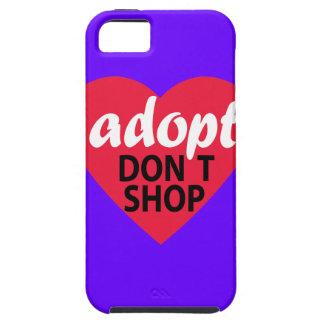 Adopt no hace compras iPhone 5 Case-Mate carcasa