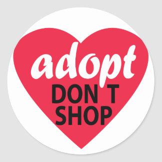 Adopt no hace compras pegatina redonda