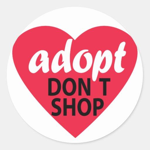 Adopt no hace compras pegatinas redondas