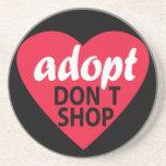Adopt no hace compras posavasos personalizados