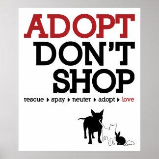 Adopt no hace compras póster