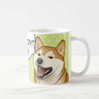 ¡Adopt no hace compras! Taza japonesa del perro de