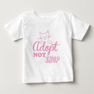 adopt not shop: pink cat baby T-Shirt