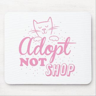 adopt not shop: pink cat mouse pad