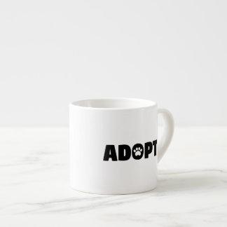 Adopt Paw Print Espresso Cup
