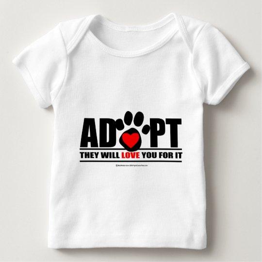 Adopt Pawprint Baby T-Shirt