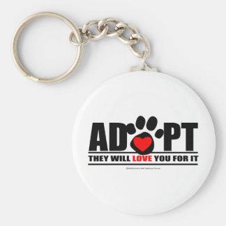 Adopt Pawprint Keychain
