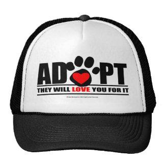 Adopt Pawprint Trucker Hat