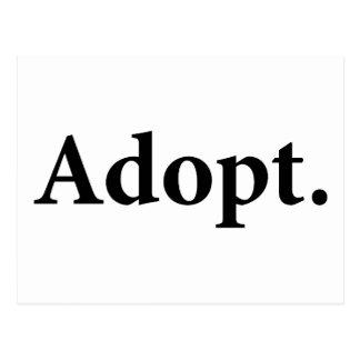 Adopt. Postcard