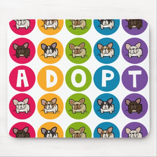 Adopt Rainbow Frenchie Mouse Pad