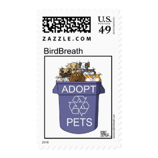 Adopt Recycled Pets Postage Stamps