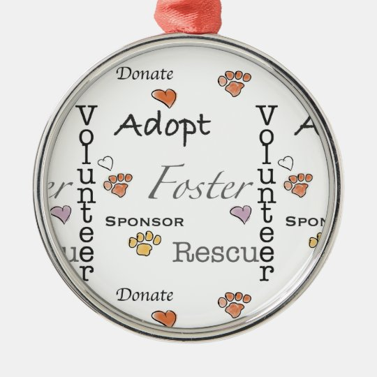 Adopt, Rescue, and Foster Ornament