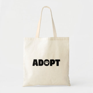 Adopt Rescue Dog Tote Bag