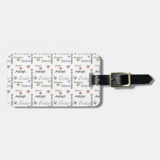 Adopt Rescue Foster Luggage Tag
