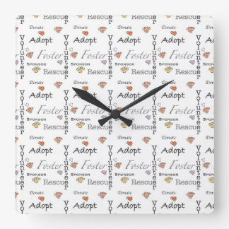 Adopt Rescue Foster Wall Clock