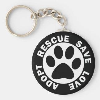 Adopt Rescue Save Love Keychain