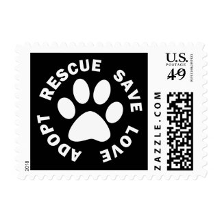 Adopt Rescue Save Love Stamp