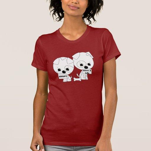 Adopt/Save A Life (B&W) Tshirts