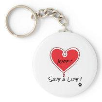 adopt save a life keychain
