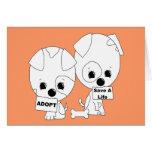 Adopt/Save A Life Pups Greeting Card
