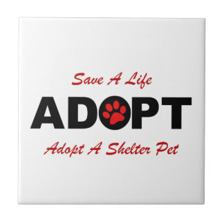 Adopt (Save A Life) Ceramic Tiles