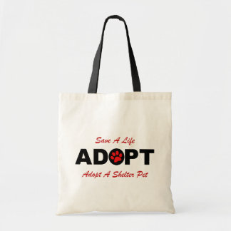 Adopt (Save A Life) Tote Bag