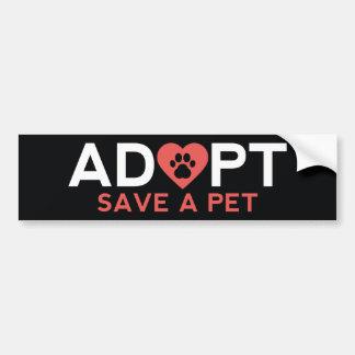 Adopt Save A Pet Bumper Sticker