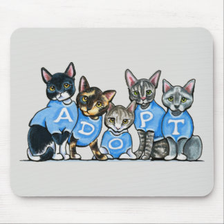 Adopt Shelter Cats Mouse Pad