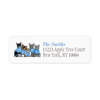 Adopt Shelter Cats Off-Leash Art™ Blue Title Label