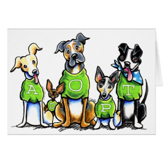 Adopt Shelter Dogs Green Tees Think Adoption Card