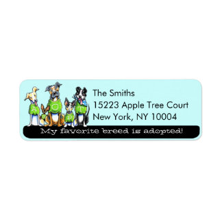 Adopt Shelter Dogs Off-Leash Art™ Black Tagline Label