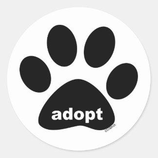 Adopt Round Sticker