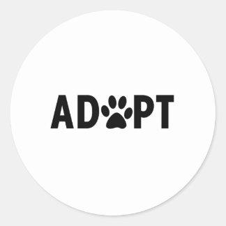 Adopt Classic Round Sticker