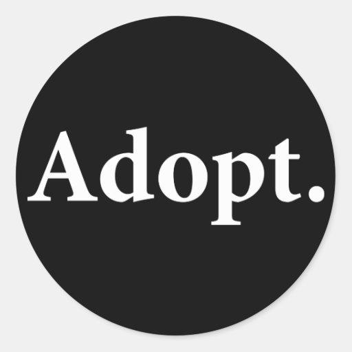Adopt. Sticker