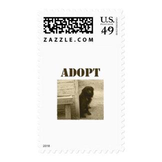 Adopt stray dog stamp