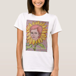 adopt the pace of nature Sunflower Girl T-Shirt