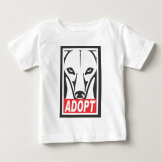 Adopt the Whippet Greyhound Baby T-Shirt