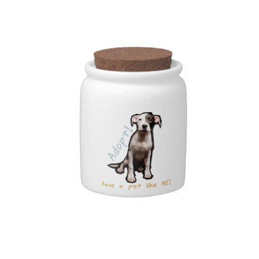Adopt treat jar candy dishes