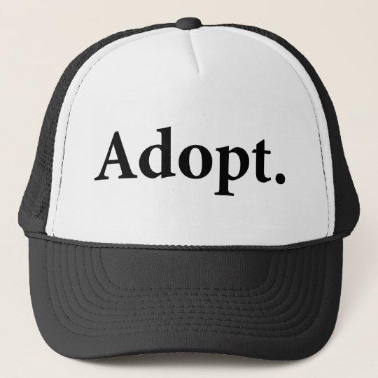 Adopt. Trucker Hat