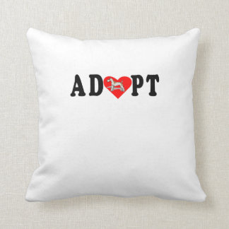 Adopt Wire Fox Terrier Throw Pillow