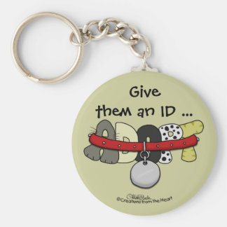 ADOPT with Collar-Give them an ID Keychain