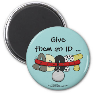 ADOPT with Collar-Give them an ID Magnet