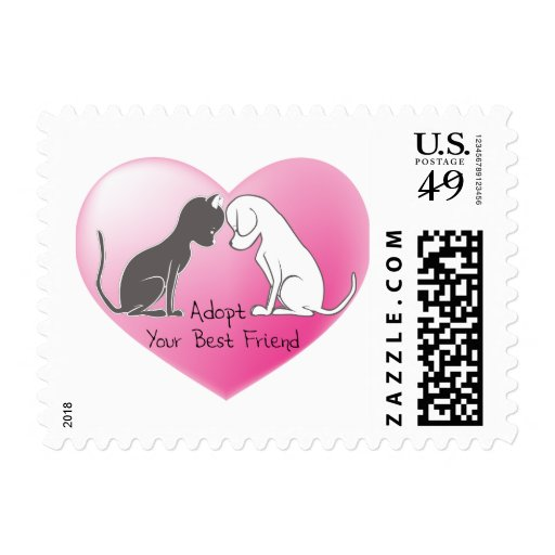 Adopt your new BFF! Postage Stamps