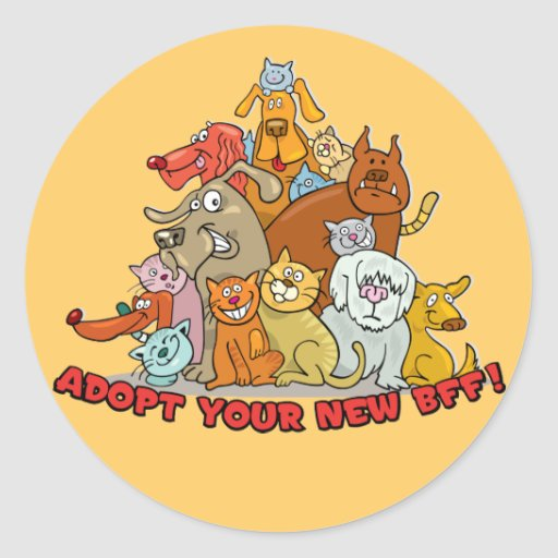 Adopt your new BFF! Stickers