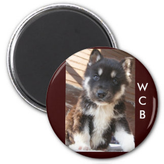 Adoptable pup magnets, WCB 2 Inch Round Magnet