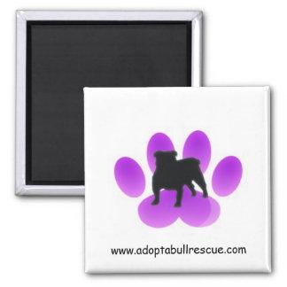 Adoptar-uno-toro, rescate inglés del dogo imán cuadrado