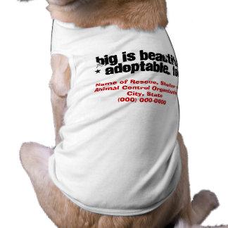 Adopte a los mascotas hermosos grandes playera sin mangas para perro